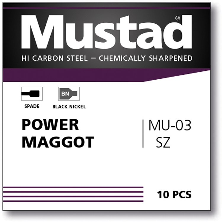 Mustad UNP Power Maggot Spade Barbed 8 (BN-MU03)