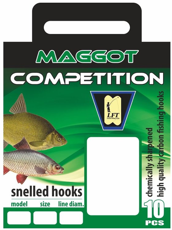 LFT Maggot Competition 45cm. 10pcs. 10 to 18