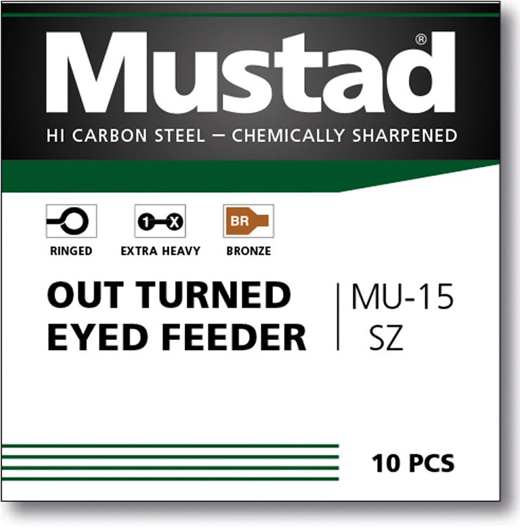 Mustad UNP Feeder Turned Eyed Barbed 10 (MU15)