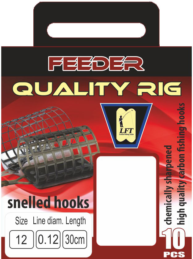 LFT Feeder Quality Rig 60cm. 10pcs. 10 to 18