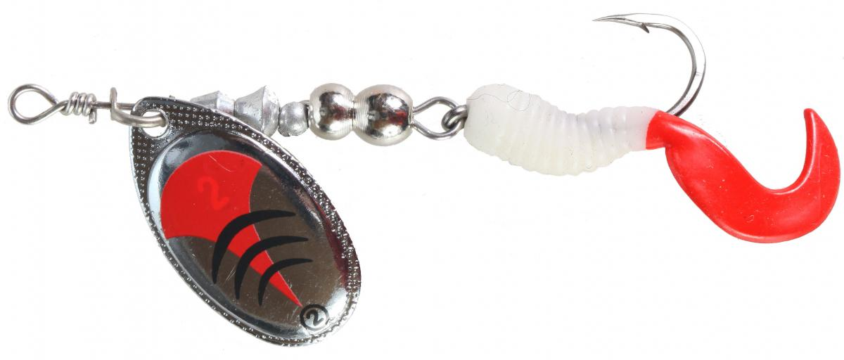 LFT Twisttail Spinner (2) Silver Red